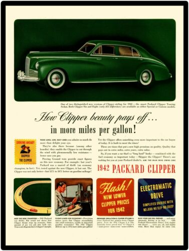 in Touring 6 or 8 1942 Packard Automobiles New Metal Sign Skipper The Clipper