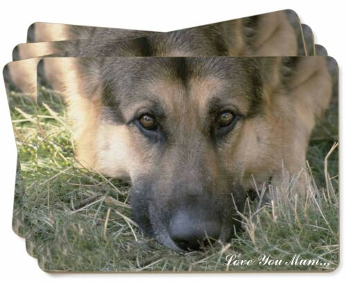 AD-G43lymP German Shepherd /'Love You Mum/' Picture Placemats in Gift Box