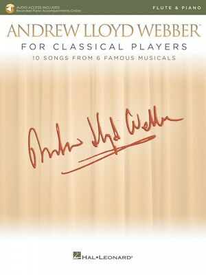 Instruction Books, Cds & Video Musical Instruments & Gear Andrew Lloyd Webber For Classical Players Flute And Piano With Audio 000275676 A Wide Selection Of Colours And Designs