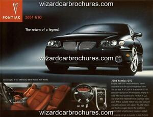 2004 PONTIAC GTO MONARO A3 POSTER AD SALES BROCHURE MINT ADVERT ADVERTISEMENT