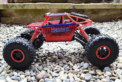 2.4ghz 4x4 Rc Off Road Spiderman Rock Crawler Telecomando Auto L @ @ @ @ K-mostra Il Titolo Originale