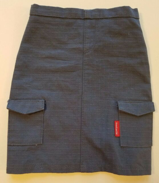 American Girl Doll Blue/Grey Cargo Skirt from Retired Urban Outfit 18