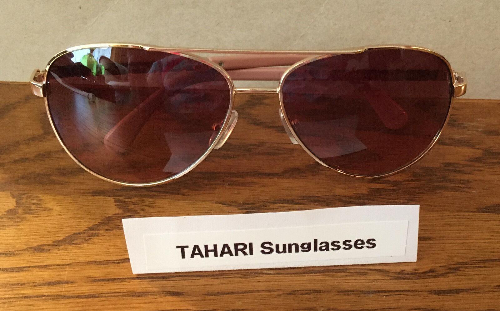TAHARI Women's Aviator Sunglasses TH737 UV Protective with Rhinestone Crystals