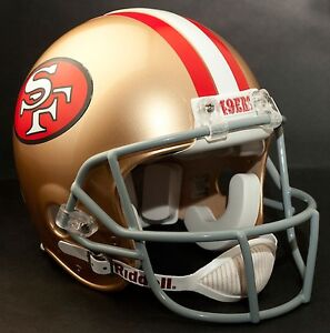 SAN-FRANCISCO-49ers-MINI-Football-Helmet-Nameplate-034-49ers-034-Decal-Sticker