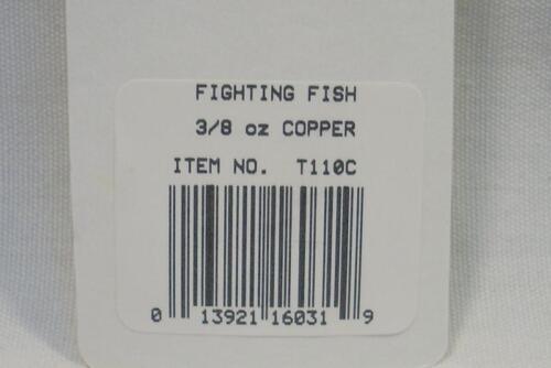 Thomas fighting fish 3//8 oz cuivre Spinning Fishing Lure