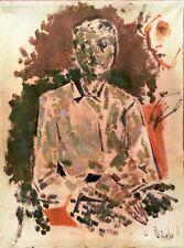 """Expressionist Öl Leinwand """"Männlicher Porträt"""" 80x60 cm"""