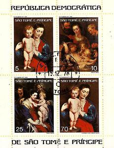 Sao-Tome-E-Principe-Bloc-4T-Wallpaper-Par-P-P-Rubens-Madonna-And-Jesus-C104