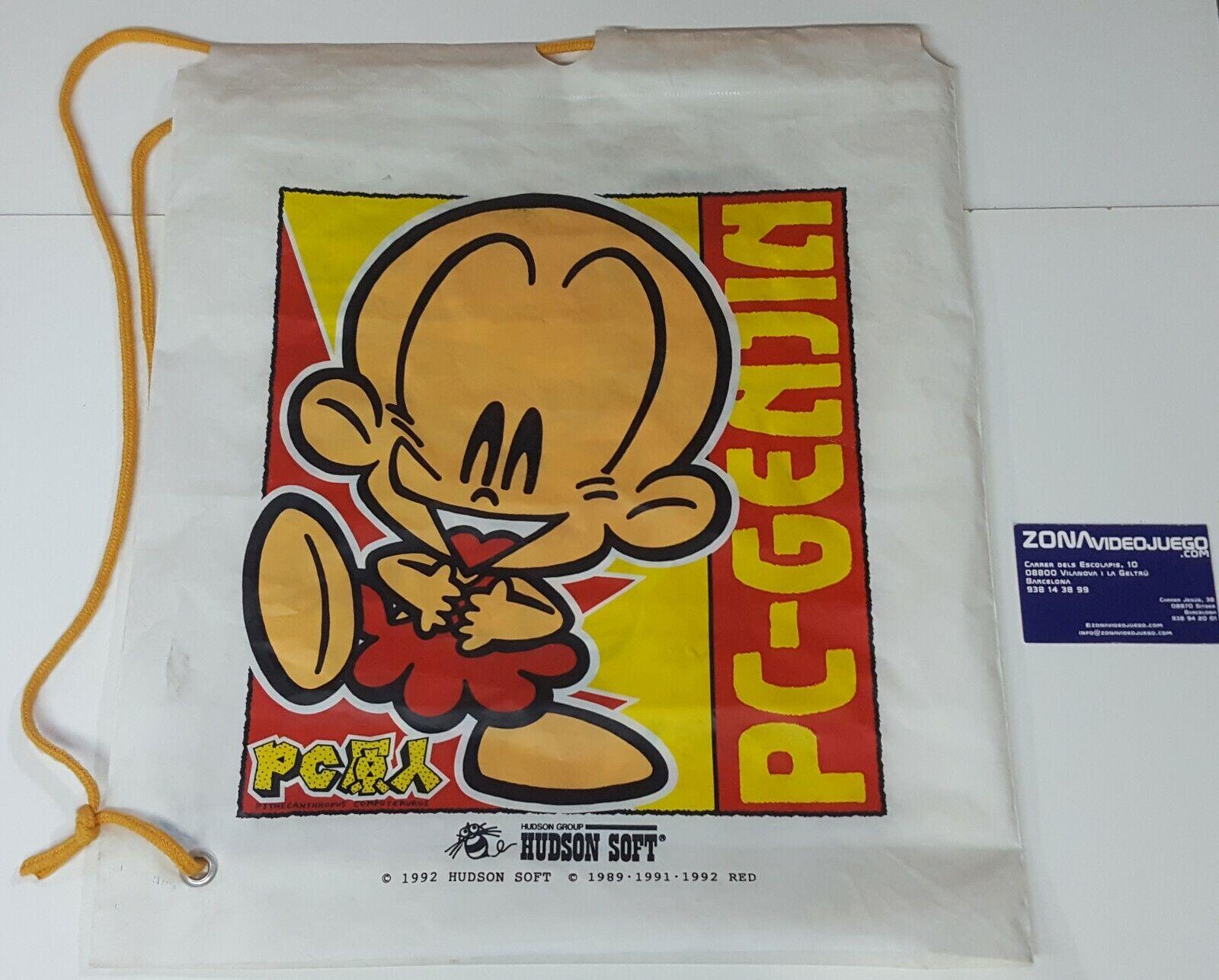 Bolsa Plástico Hudson Soft con cuerda, Pc-Denjin y Pc-Genjin. Air-Zonk. Bonk.