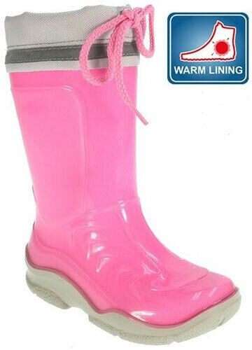 Beppi 2137971 Girls Pink Warm Lined Wellies Boots Sizes UK 5-10 NEW BOXED