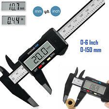 New Listing6 150mm Digital Electronic Vernier Caliper Carbon Fiber Micrometer Gauge Ruler