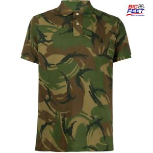 New-Big-amp-Tall-Men-s-Polo-Ralph-Lauren-Classic-Camo-Army-Polo-Shirt-Size-4XLT
