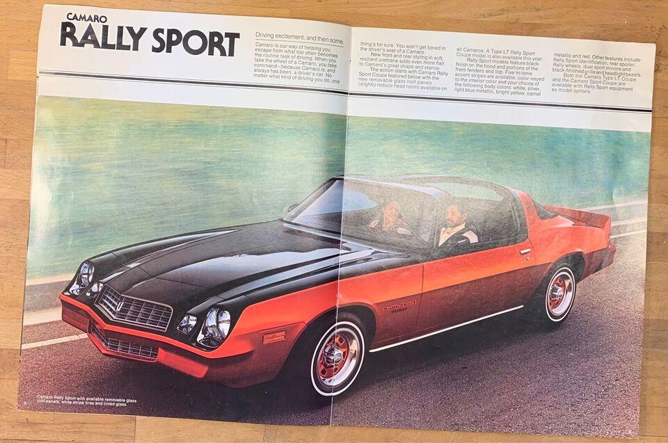 Chevrolet Camaro brochure, Camaro 1976 og 1978