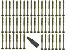 4MM X 45MM Csk Easy Torx Tornillo Para Madera Fast Yzp PLUS Broca PAQUETE 100