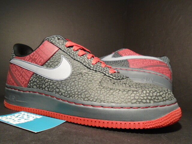 Nike Air Force 1 Supreme 11 07 seis originales Moses Malone Negro Gris Rojo 11 Supreme sigilo barato moda y hermosa cc838e