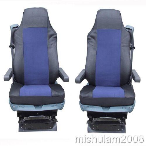 2x sitzbezüge Housses NEUF bleu foncé-noir pour DAF xf105 xf 105 CF 95xf 95
