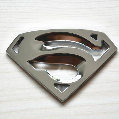 Car Chrome Metal Superman Logo Window Bumper Body Badge Emblem 3M Sticker Decal