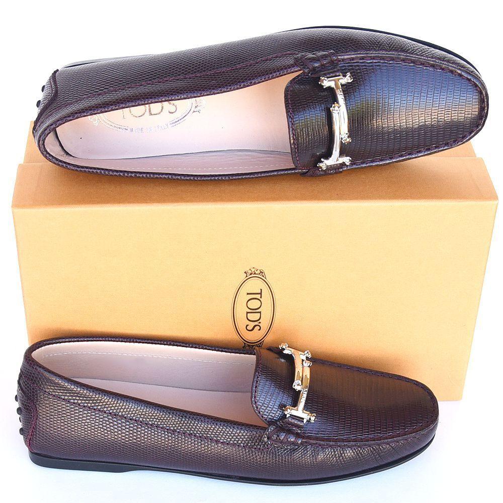 Tod'S Nuevas Talla 41.5 11.5 Auténtico Auténtico Auténtico Diseñador para mujer cristales two-tone Mocasines zapatos sin taco  mejor calidad mejor precio