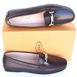 TOD-039-S-New-sz-41-5-11-5-Authentic-Designer-Womens-Crystals-TT-Flats-Loafers-Shoes