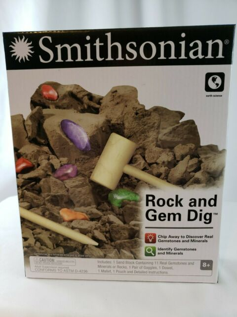 Smithsonian Rock and Gem Dig Educational Toy - New in Box ...