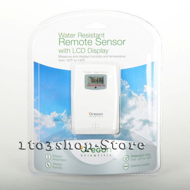 Oregon Scientific THGR122NX Water Resistant Remote Weather White Thermometer