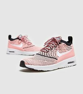 the best attitude 95861 a6dce Nike Air Max Thea Flyknit Trainers Sneaker Black Pink UK 4.5 |95 90 ...