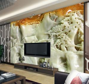 3D  Jade Stone Style 7 Wall Paper Murals Wall Print Wall Wallpaper Mural AU Kyra