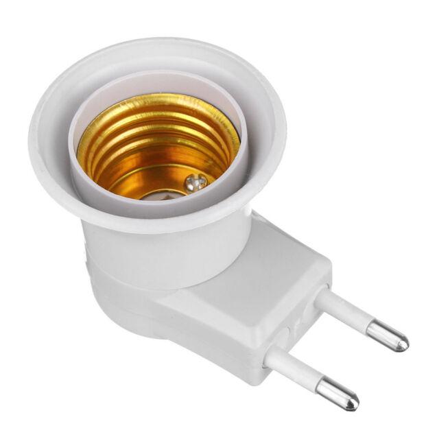 Button On-off Control E27 LED Socket To EU Plug Adapter Light Bulb Lamps Holder