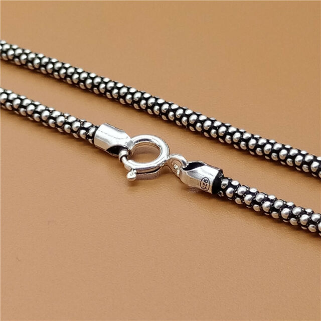 """Mens Womens 925 Sterling Silver Figaro Chain Necklace 4.5MM 16/""""-38/"""""""