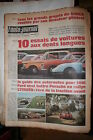 L'AUTO - JOURNAL 20è ANNEE N° 481 DU 19/06/1969 MAGAZINE COMPLET NON PLIE