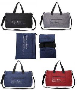 Canvas Duffle Bag Duffel Shoulder Sport Gym School Mens Women Travel ... 52a004d11