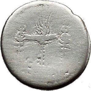 MARK-ANTONY-amp-CLEOPATRA-Legion-Ship-Augustus-Ancient-Silver-Roman-Coin-i39138