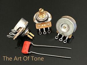 CTS-250K-Pots-Split-Shaft-450G-Dishback-Audio-10-3X-022uf-Orange-Drop