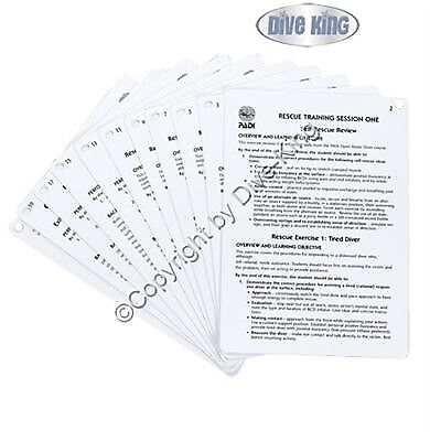 PADI Cue Cards - Rescue Diver Instructor (11 Slates)  - 60205G  | Um Zuerst Unter ähnlichen Produkten Rang