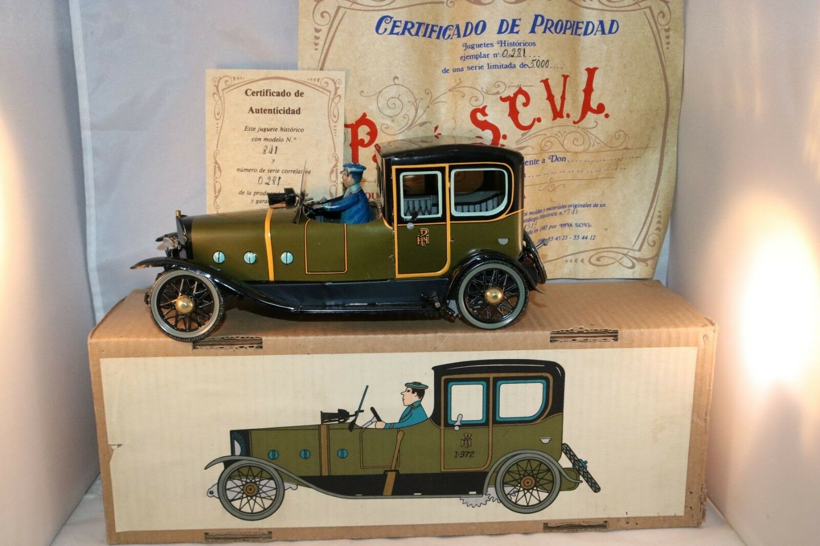 Paya 841 Coche Coupe-Limousine 1923 limited edition perfect mint in box 25cm
