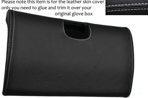 WHITE STITCH BOTTOM GLOVE BOX LID LEATHER COVER FITS TOYOTA SUPRA MK4 93-02
