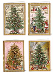 *EDITION TAUSENDSCHÖN*Doppelkarte*Weihnachten*Adventskalender*Nostalgie*W-Baum*