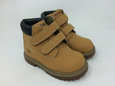 *New Wheat A11 Boys Toddler Skechers 93163L Mecca-Bunkhouse Ankle Boot