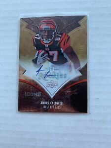 2008 Upper Deck Icons Rainbow /135 Andre Caldwell #105 Rookie Autograph
