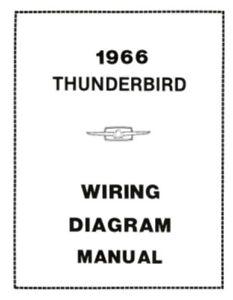 ford 1966 thunderbird wiring diagram manual 66 ebay rh ebay com