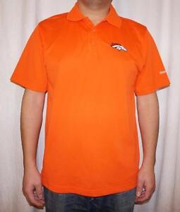 31f17434a Reebok Denver Broncos NFL Men s Play Dry Polo Shirt - Orange