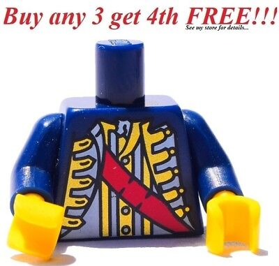 *NEW* 10 PieceS Lego Minifig RED Torso Pirate IMPERIAL SOLDIER Uniform Knapsack