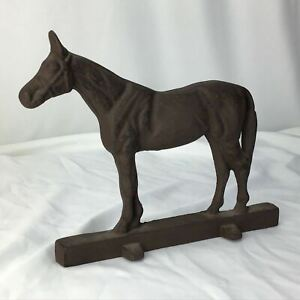 Vintage Horse Door Stop Stopper Doorstop Cast Iron Metal