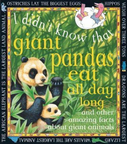 Giant Pandas Eat All Day Long (I Didn't Know That) Fitzsimons, Cecilia Hardcove
