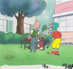 Doug Funnie Original  1990's Production Cel Animation Art Doug Skeeter Porkchop