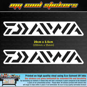 2-x-Diawa-20cm-Vinyl-Sticker-Decal-for-Fishing-Boat-4X4-Ute-Car-Tackle-box-Esky