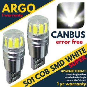 Mini-Cooper-Led-White-Side-Light-R50-R53-R56-2000-2014-Xenon-Sidelight-Bulbs-Fit