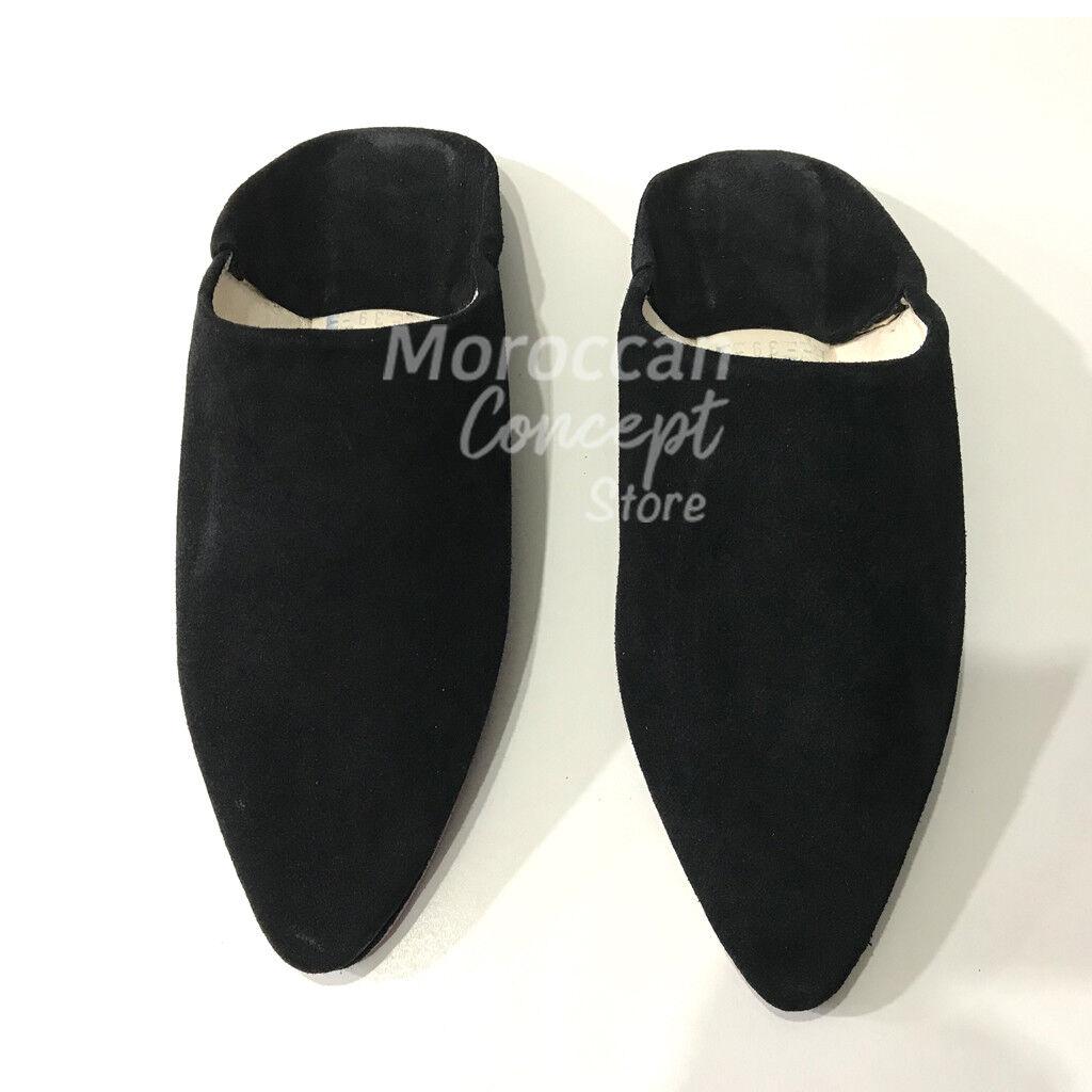 Zapatillas de cuero marroquí BABOUCHE-de ante – Unisex De Alta Alta Alta Calidad  Envío y cambio gratis.