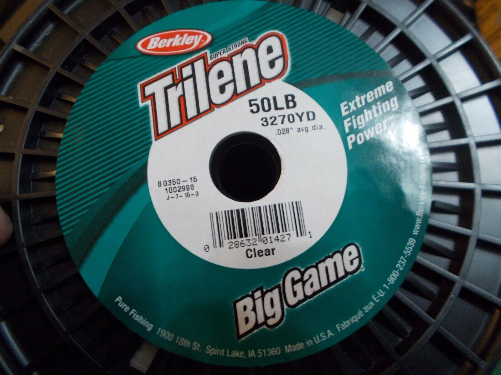 Fishing Line Berkley Big Game 50lb Test 3270yds Clear Monofilament