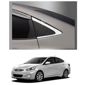 Stainless Door Pillar Post 6P For 11 Hyundai Accent