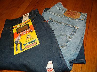 1990's Uomo Jeans Wrangler 13mwz E Levi Misura 501 36 X 32 Deadstock / Usato